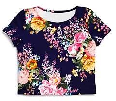 Aqua Girls' Floral Short Sleeve Top - Big Kid - 100% Exclusive