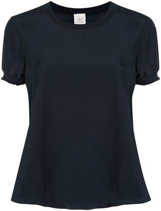 Cinq à Sept Lenny short sleeve silk T-shirt