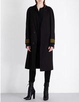 Haider Ackermann Raglan linen-blend coat