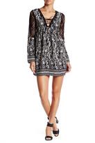Trixxi Lace-Up Crepe Dress