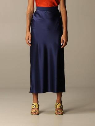 Theory Skirt Long Silk Skirt