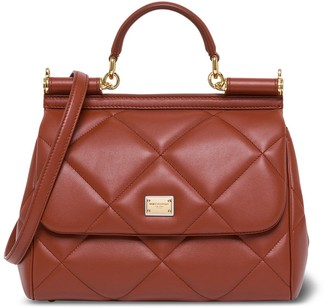 Dolce & Gabbana Sicily Medium Handbag In Quilted Leather