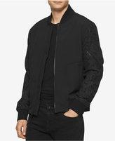 Calvin Klein Jeans Men's Mixed-Media Aviator Jacket