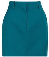 Calvin Klein Wool gabardine miniskirt
