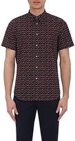 Paul Smith Men's Rose-Print Short-Sleeve Shirt-NAVY