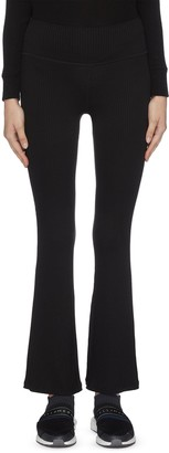 Beyond Yoga 'Step beyond' high waisted rib knit bell pants