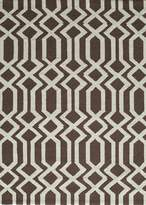 Momeni Rugs GEO00GEO-7BRN5070 Geo Collection, Contemporary Area Rug, 5' x 7'