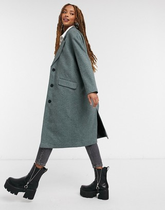 Pimkie tailored coat in khaki