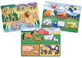 Melissa & Doug Farm, Vehicles & Safari Peg Puzzle Bundle