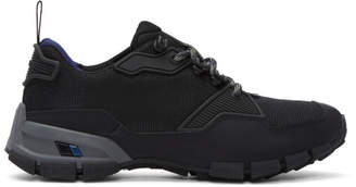 Prada Black Leather and Mesh Crossection Sneakers