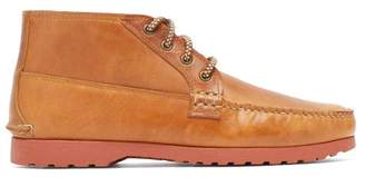 Quoddy Telos Chukka Leather Desert Boots - Mens - Brown