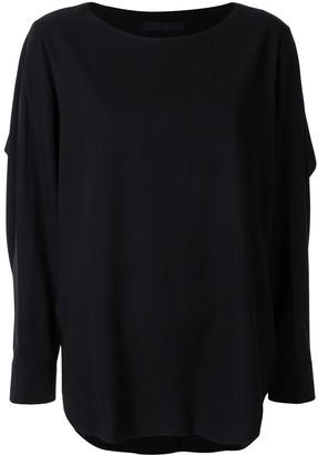 Juun.J long-sleeved flared blouse