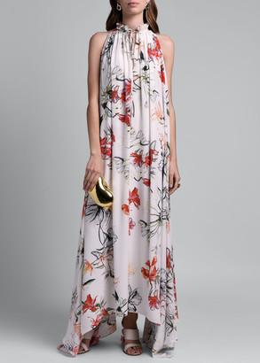 Alexander McQueen Floral Print Halter Dress
