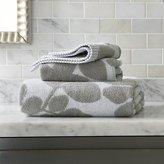 Crate & Barrel Kukkula Grey Bath Towels