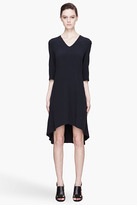 Marni Deep navy draping silk Dress