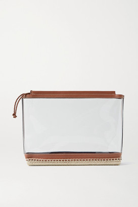 Altuzarra Espadrille Leather And Jute-trimmed Pvc Clutch - Clear