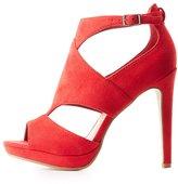 Charlotte Russe Cut-Out Platform Dress Sandals