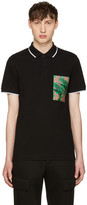 McQ by Alexander McQueen Black Logo Polo