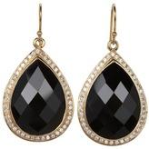 Nunu Black Onyx Drop Earring (Gold/Black Onyx) - Jewelry