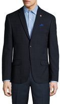 Ben Sherman Checkered Notch Lapel Sportcoat