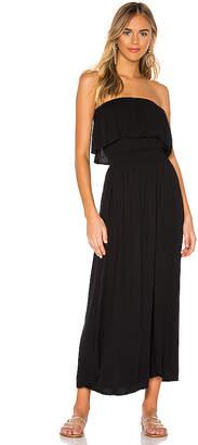 Bobi Beach Crepe Maxi Dress