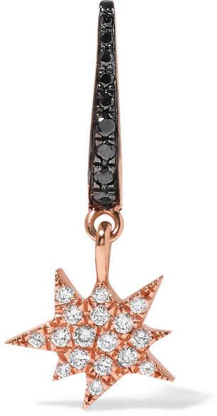 Diane Kordas Explosion 18-karat Rose Gold Diamond Earring