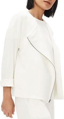 Eileen Fisher Asymmetrical Zip Jacket