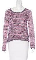 Maje Metallic Pattern Sweater
