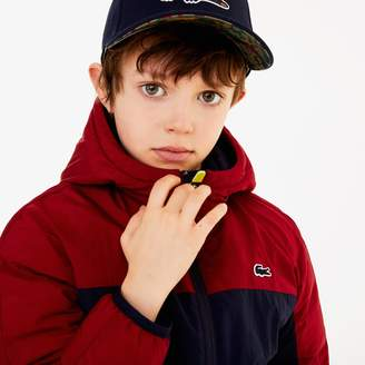 Lacoste Boys' Hooded Color-Blocked Quilted Jacket