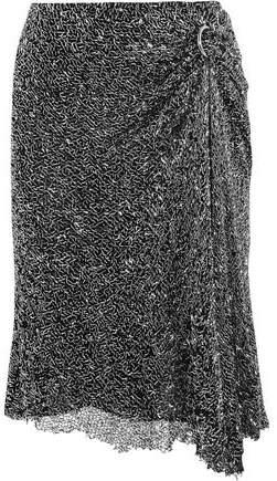 Dion Lee Draped Embellished Mesh Skirt