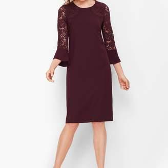 Talbots Crepe & Lace Shift Dress