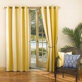 Sun Zero 48965 Dorie Indoor Outdoor Woven Stripe Grommet Single Window Curtain Panel