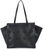 Christian Siriano floral appliquée shoulder bag