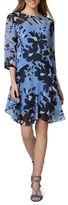 Donna Morgan Jewelneck Floral-Print Dress
