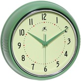 Infinity Instruments Infinity InstrumentsRetro Metal Wall Clock - Green