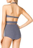 Michael Kors High-Waist Bra-Top Bikini
