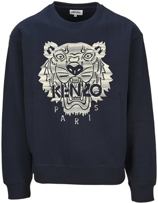 Kenzo Tiger Embroidered Crewneck Sweatshirt
