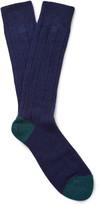 Paul Smith - Two-tone Ribbed-knit Socks