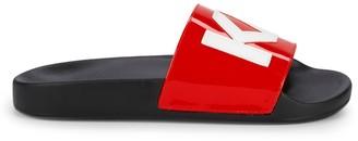 Karl Lagerfeld Paris Logo Slide Sandals