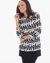 Chico's Twirling Lines Top