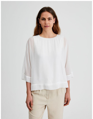Basque Sheer Overlay Tee