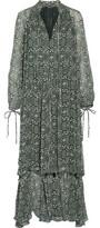 Derek Lam Ruffled Floral-Print Silk-Georgette Gown