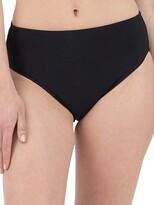 High-Leg Solid Bikini Bottom