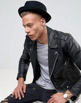 Asos Pork Pie Hat With Aztec Unfinished Band