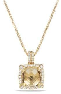 David Yurman Chatelaine Bezel Necklace with Champagne Citrine and Diamonds
