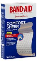 Johnson & Johnson Band-Aid® 10-Count XL Sheer Strip Bandages