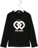 DSQUARED2 geometric logo top - kids - Cotton - 10 yrs