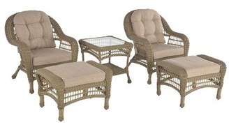 Highland Dunes Whittenburg Outdoor Garden 5 Piece Seating Group with Cushions