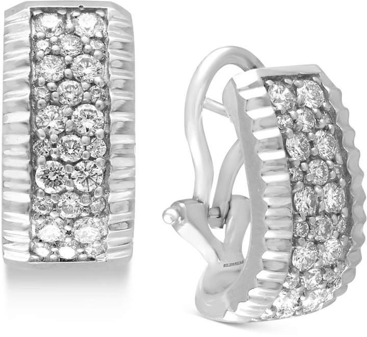 Effy Trio by Diamond Pave Hoop Earrings (9/10 ct. t.w.) in 14k White or Yellow Gold