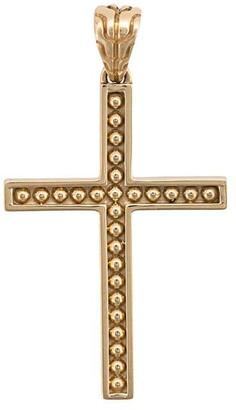 John Hardy 18kt yellow gold Jawan cross pendant